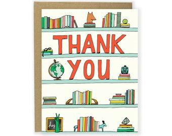 Thank You Card - Thank You Shelf - blank thank you note, thank you cards, thanks, note card, writing thank you notes, cute thank you card