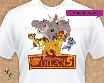 Lion Guard T-Shirt -  Personalized -   Lion Guard Birthday Iron On Transfe - Birthday Boy - Lion Guard Party Favors