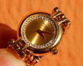 Beautiful,18k-GP Ladies Raymond Weil Geneve Swiss Watch 5806-2 Diamond Dial.