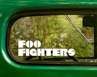 2 FOO FIGHTERS Band Decal, Stickers, Metal Rock Music Decal, Vinyl Sticker For Car Truck Rv Jeep Bumper Window