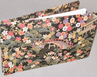 Photo / Guest Book -Floral fabric -inside and outside covers