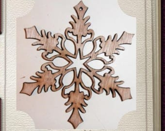 Snowflake Ornament - Laser Cut Wood