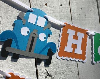 Blue Truck Banner/Little Blue Truck Birthday Banner/ Ships in 3 business days/ Truck Garland/ Truck Party/ Truck Decor/Truck Party