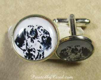 Dalmatian Cufflinks, Dalmatian Mens Gifts, Dalmatian Accessories, Dalmatian Dad Gifts Dalmatian Gifts, Gifts for Dalmatian Dad