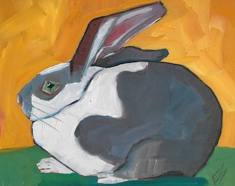 rabbit Original Oil Painting