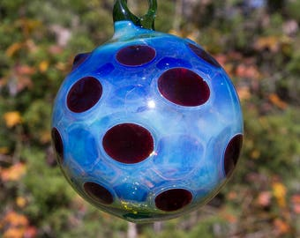 OOAK Hand blown Borosilicate Glass Christmas ornament 176