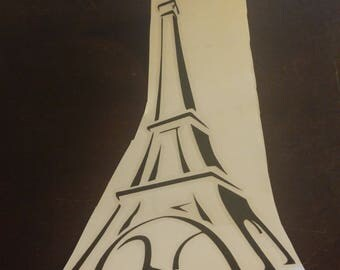 Eiffle Tower Decal Apply anywhere car, fridge, mirror ect