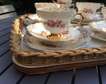 Stunning Regency vintage bone china tea cup trio