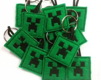 Minecraft, Creeper, Minecraft Creepers, Minecraft Zipper Pulls, Minecraft Party Favor, Minecraft Key Chain, Creeper Party Favor, Creepers