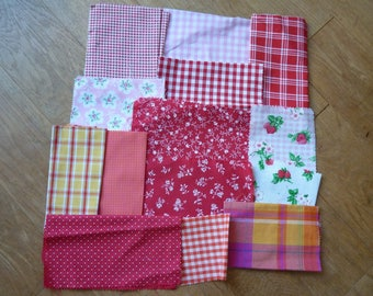 set of fabrics for patchwork 196 coupons