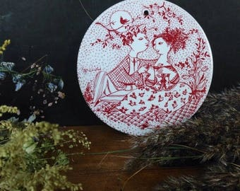 ON SALE Bjørn Wiinblad for Nymølle Nymolle May Plate Danish Design