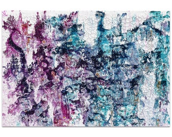 Abstract Wall Art 'Essence 1' by Jamie Anton - Colorful Urban Decor Contemporary Color Layers Artwork on Metal or Plexiglass