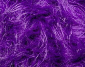 Fun Gorilla Solid Long Pile Faux Fur 58 Inch Purple Fabric by the Yard, 1 yard