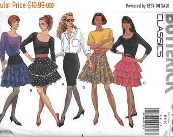 25% OFF Butterick 5183 Misses Skirt Pattern, Tiered Skirt, Slim Skirt, Size 6-8-10,  UNCUT