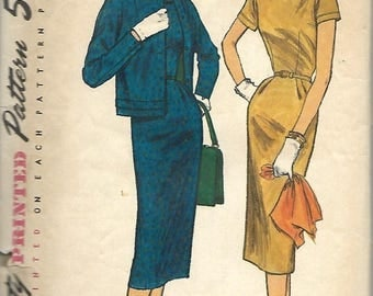 ON SALE Simplicity 1769 Misses One-Piece Dress And Jacket Pattern, Size 16, Bust 36