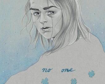No One by Tania Qurashi - Original Arya Stark Game of Thrones Illustration