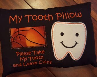 Tooth Fairy Pillow, Tooth pillow, Basketball Tooth Pillow