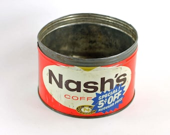 Nash's Coffee Can Vintage 1 lb Size
