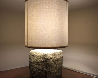 Braille lamp ~SALE~ lacquered white braille paper lampshade - repurposed design