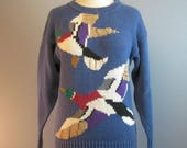 Novelty Sweater / Vtg 80s...