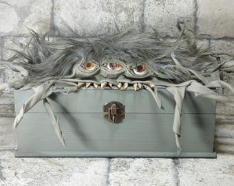 Jewelry Keepsake Wood Leather Storage Dice Box Case Harry Potter Monster One Of A Kind Handmade 244