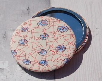 Fabric Covered Pocket Mirror Liberty Grayson Perry Phillipa