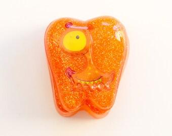 Orange Monster Tooth Fairy Box