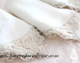 NAPKINS, Vintage, Crochet Lace Design, Heirloom, Luncheon Napkins, Set of 4, Staging, Props, Wedding Table Decor, High Tea Party