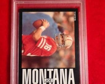 1985 topps #157 joe montana psa 8 nm-mt football card san francisco 49ers