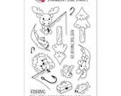 Fishing with Moose & Hedgehog Stamp Set
