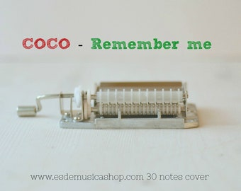 Coco Remember me in a 30 notes  music mechanism. Hand Cranked.