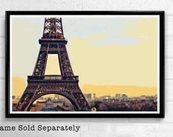 Eiffel Tower 6 - Paris Landmark Pop Art Print and Poster France Monument Landmark Europe Travel Home Decor Canvas