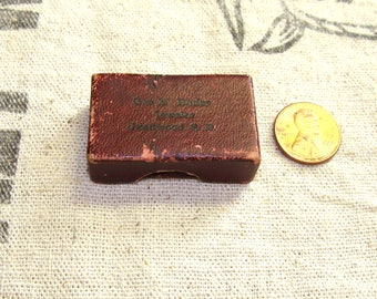 1800's Little Jewelry Box Marked Geo. M. Butler Jeweler, Deadwood S.D., First Black Hills Gold Jewelry Makers