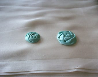 antique authentic ribbon work silk aqua