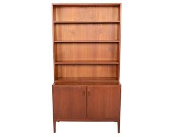 Danish Mid Century Modern Modular Teak Bookcase Credenza #1