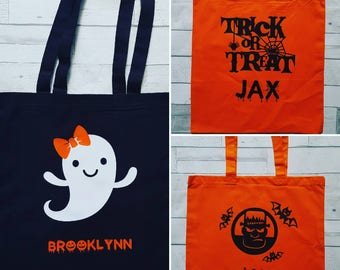 Personalized trick or treat bag.