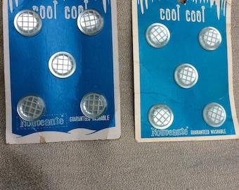 Two Cards Vintage Nouveaute Cool Cool Buttons