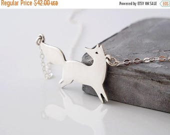 ON SALE Fox Necklace - Silver Animal Necklace - Nature Lover Gift - Fox Necklace Silver - Fox Jewelry - Nature Jewelry - Nature Necklace