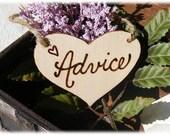 Rustic Wooden ADVICE tag, wedding advice sign, advice sign, rustic wedding, bridal shower decor, wedding decor, rustic graduation sign