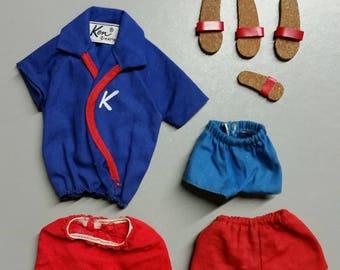 original Ken & Ricky outfits by Mattel vintage 1964-5 original Barbie accessories