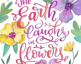 The Earth Laughs in Flowers - Makewells Fine Art Print