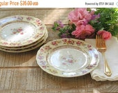 ON SALE Vintage Gold Castle Hostess China Bread and Butter Plates Set of 4 Side Plates Mid Century Made in Japan