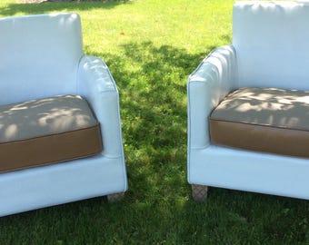 Chairs Pair Vinyl Chair Cushion Morrocan