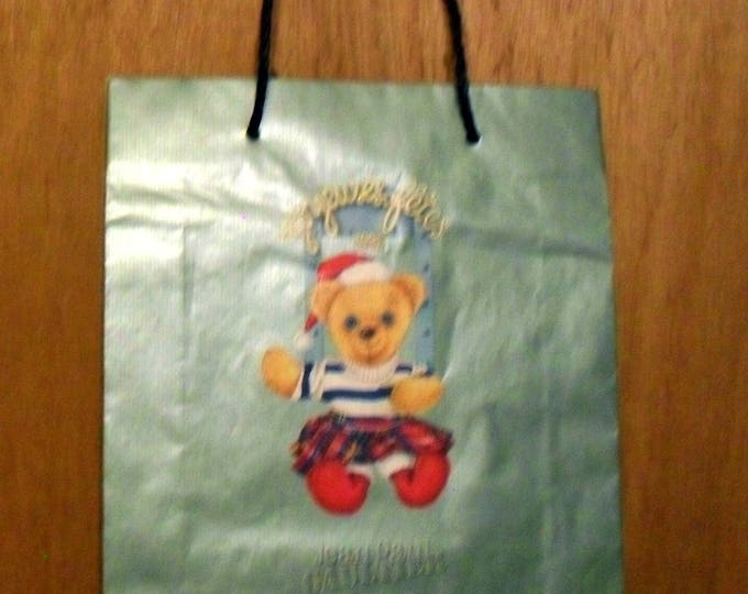 Vintage 1990s Jean Paul Gaultier Perfume Promotional Christmas 1996 Large Paper Shopping Bag Designer Fragrance Collectible