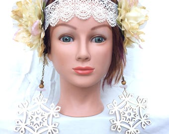 "Authentic Two-Sided Headdress ""Angelica"""