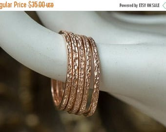 JULY 4TH SALE Rose Gold Rings, Rose Gold Stacking Rings, Gold Dainty Rings, Stacking Rings, Thin Gold Rings, Set of Five Rings, Gold Stack R