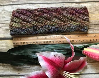 Knitted multicolor headband-Large-Nice colors!