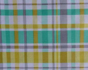 1/2 Yard Cotton Quilting Fabric - Michael Miller Hank and Clementine, Kelly Plaid