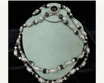 ON SALE Vintage Hong Kong Aluminum Double Stranded Necklace Item K # 10