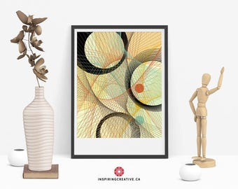 Stixy 2 – Mid Century Abstract Contemporary Modern Art Giclée Print